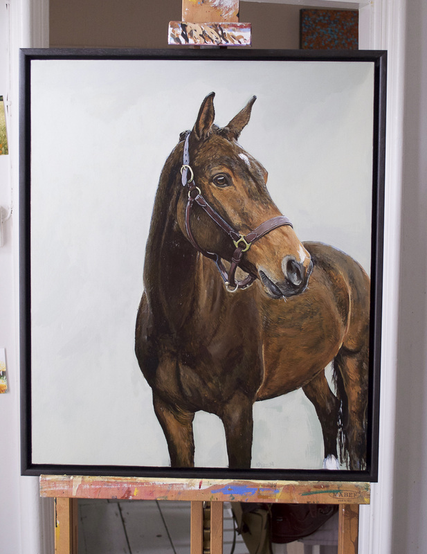 Horse painting commissions in Gloucestershire by Fourlegs.co.uk