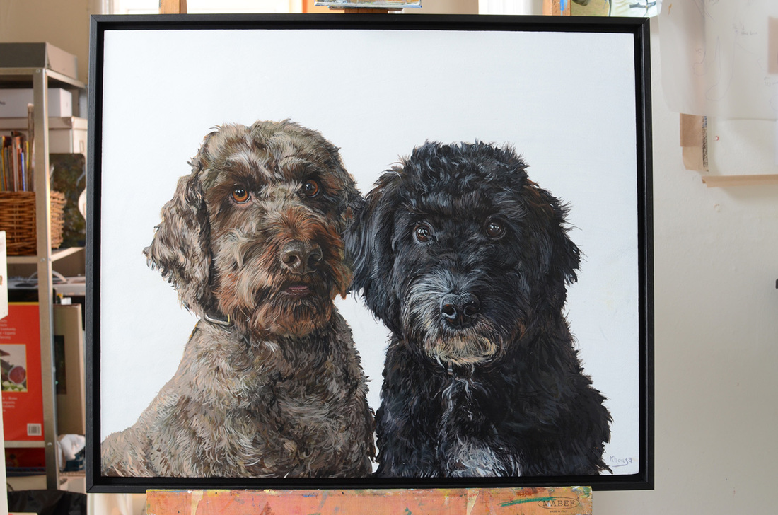 Animal portraits pet commissions by Fourlegs in Gloucestershire UK
